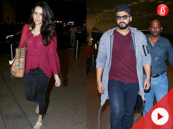 Watch: Arjun Kapoor and Shraddha Kapoor spotted at airport