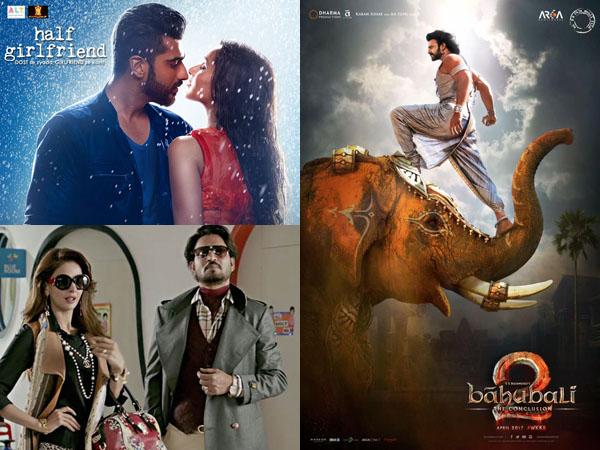 'Half Girlfriend', 'Hindi Medium' and 'Baahubali 2' have a great Monday at the box office