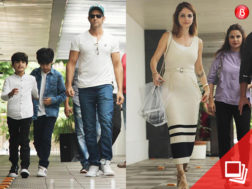 Hrithik Roshan and Sussanne Khan are snapped with kids after a lunch outing