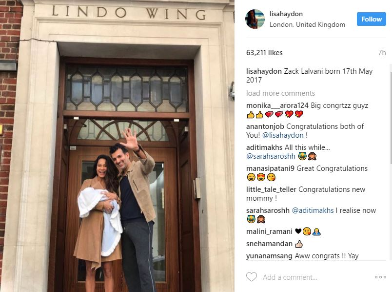 Lisa Haydon, husband Dino welcome first child, photo goes viral