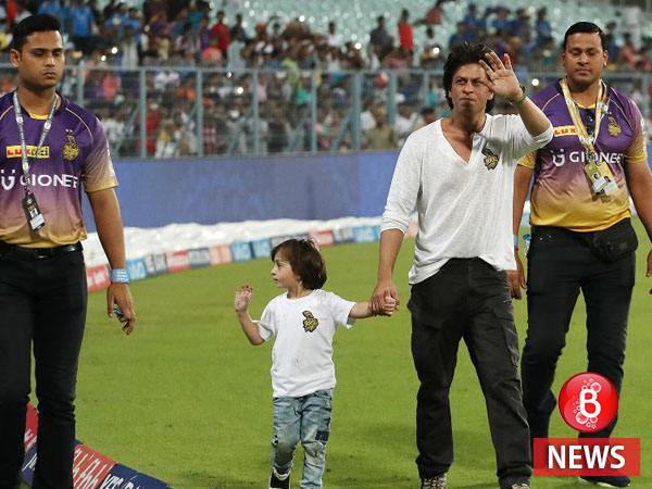 All eyes on Shah Rukh Khan and AbRam as they steal the show at Eden Gardens