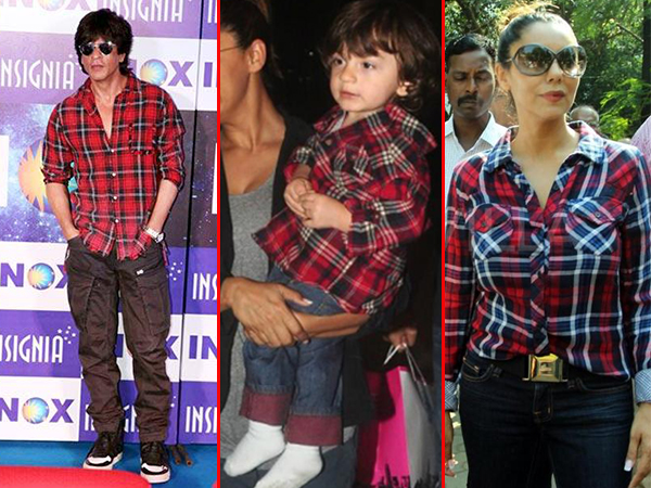 THROWBACK! Shah Rukh Khan, Gauri Khan or AbRam, who wore the checked shirt better?
