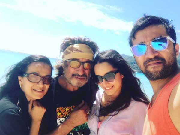 Pics: Shraddha Kapoor celebrates the success of 'Half Girlfriend' with family in Seychelles