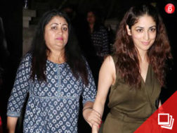 Yami Gautam is snapped with her mother outside a restaurant