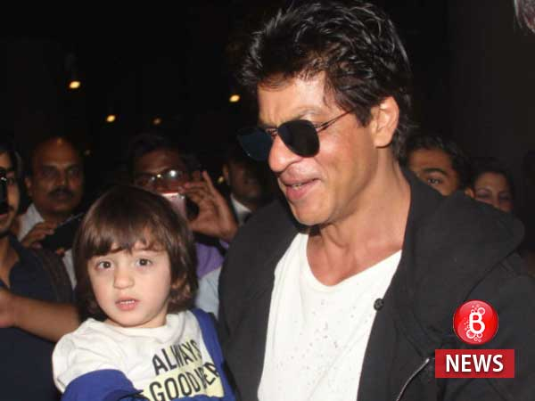 Shah Rukh Khan and AbRam share perfect fitting genes and this picture is proof