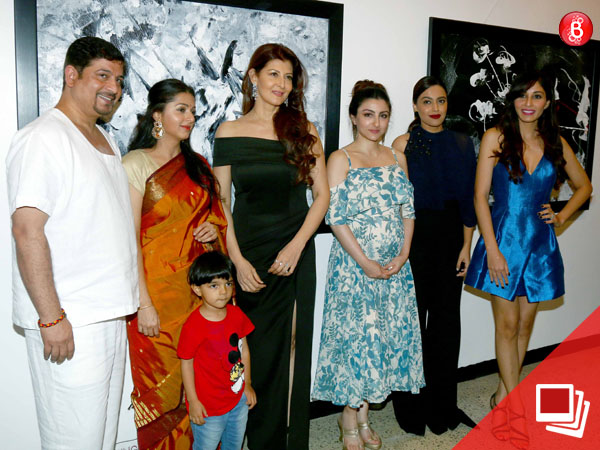 PICS: Soha Ali Khan, Swara Bhasker and others at the inauguration of Bharat Thakur's art exhibition