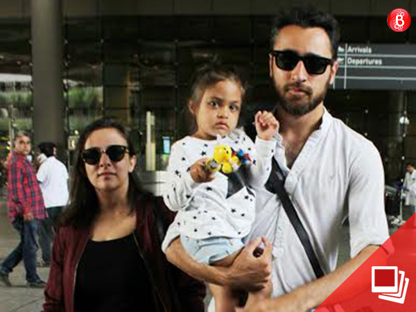 PICS: Imran Khan returns from his vacation with Avantika Malik Khan and Imara Khan