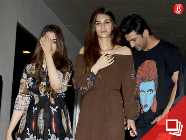 PICS: Sushant Singh Rajput and Kriti Sanon catch up on a dinner date