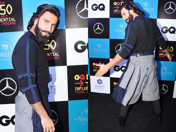 Fierce AF! Ranveer Singh drops a stylish bomb by dressing eccentric at the GQ event