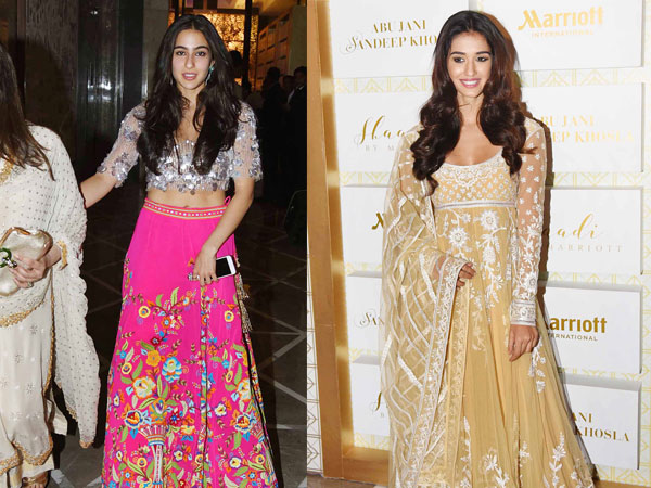 PICS: Sara's colourful fusion outfit works better than Disha's pale traditional!