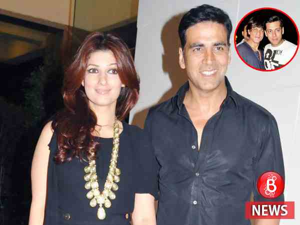Akshay reacts to Twinkle's apparent dig at Salman and Shah Rukh