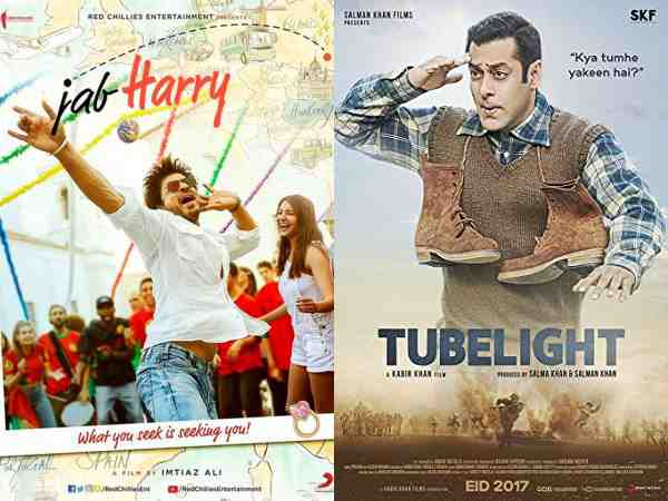 Shah Rukh's 'JHMS' fails to beat the first weekend figures of Salman's 'Tubelight'