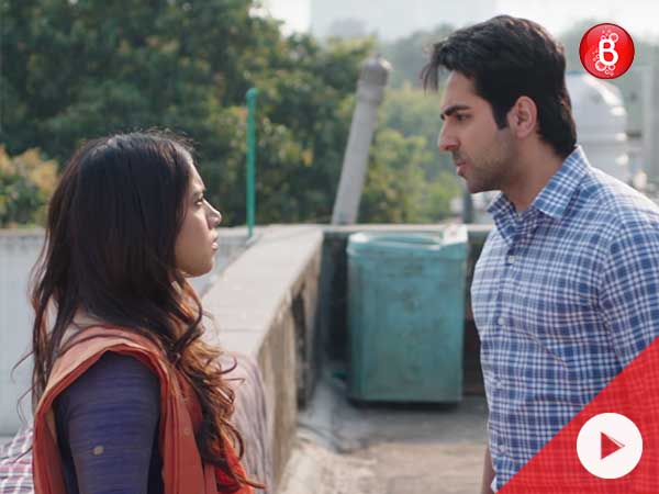 Watch Ayushmann and Bhumi's efforts to solve his problem in 'Laddoo' song