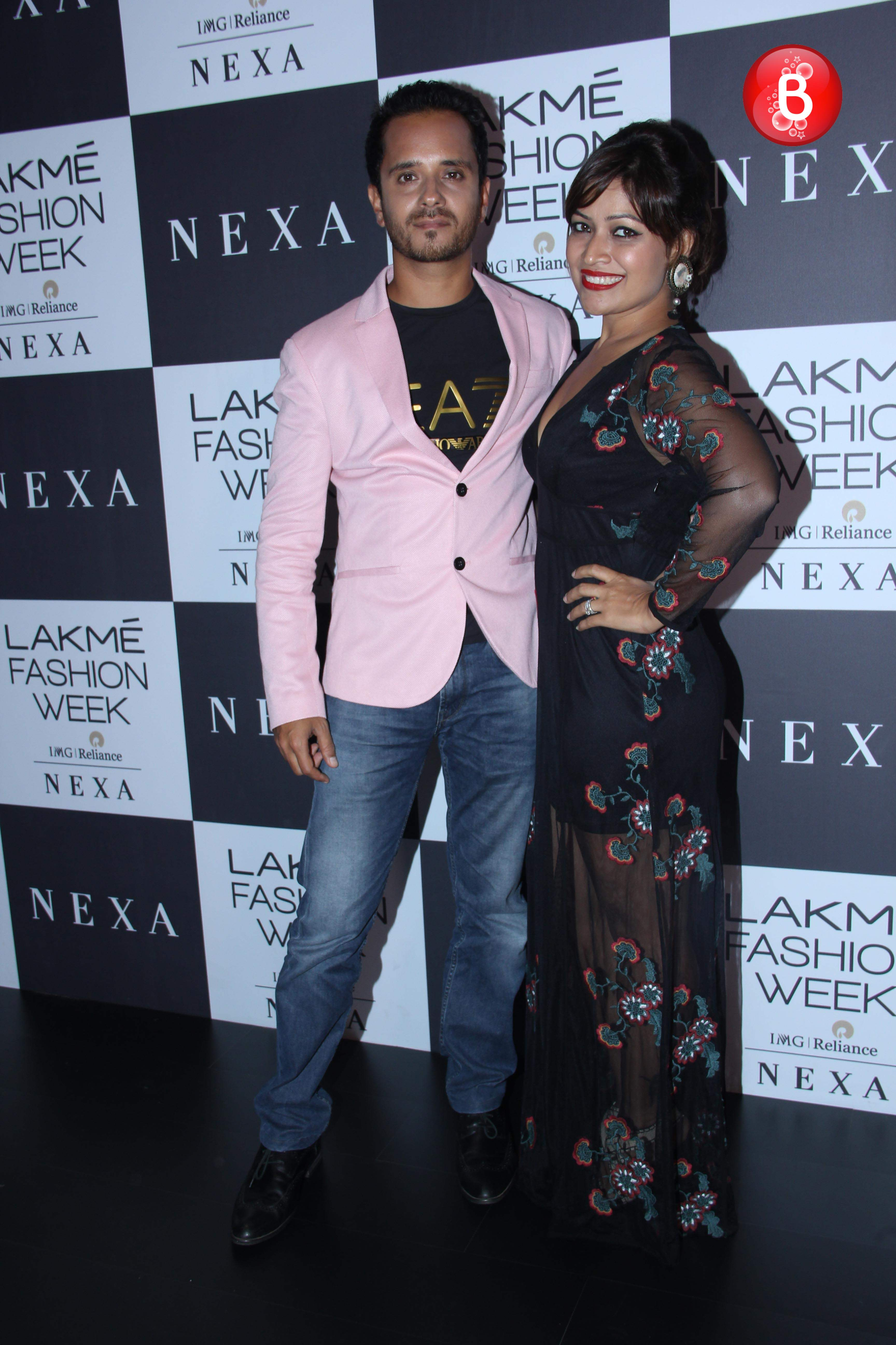 Raghav Sachar with wife Amita Pathak at Day 2 red carpet of LFW 2017