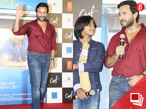 PICS: Saif Ali Khan unveils the trailer of 'Chef' along with team