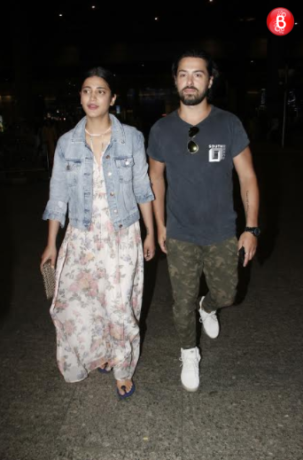 Shruti Haasan and Michael Corsale