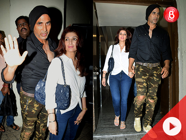 WATCH! Akshay and Twinkle spend some quality time watching 'Newton'