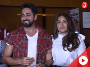 WATCH: Ayushmann and Bhumi on being compared to Shah Rukh Khan and Kajol