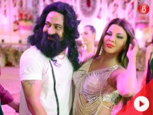Watch: Rakhi shoots a song for a movie in which she plays the role of Honeypreet Insan