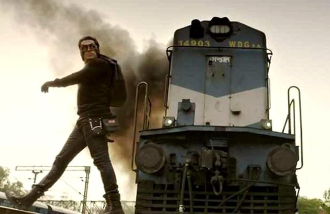 Salman Khan is faster than a train!