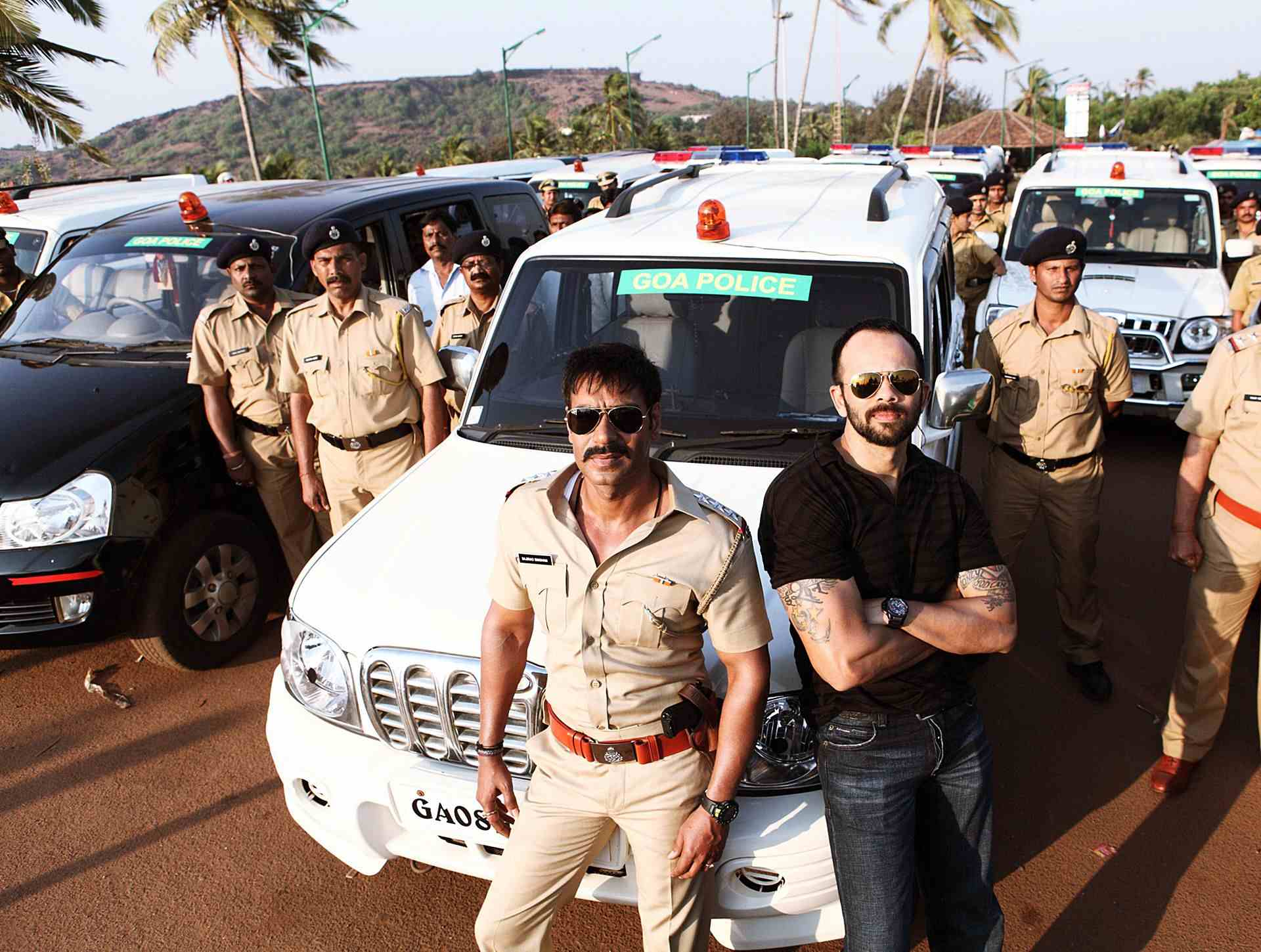 Learn to land on your feet as you hop out of a moving car from Singham!