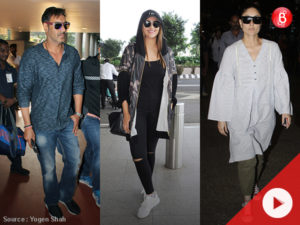 WATCH: Ajay, Sonakshi and Kareena make a stylish entry at the airport