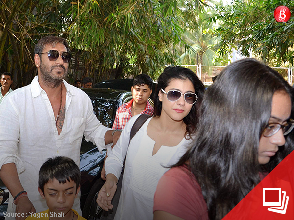 Pics: Ajay and Kajol were twinning in white at 'Golmaal Again' screening
