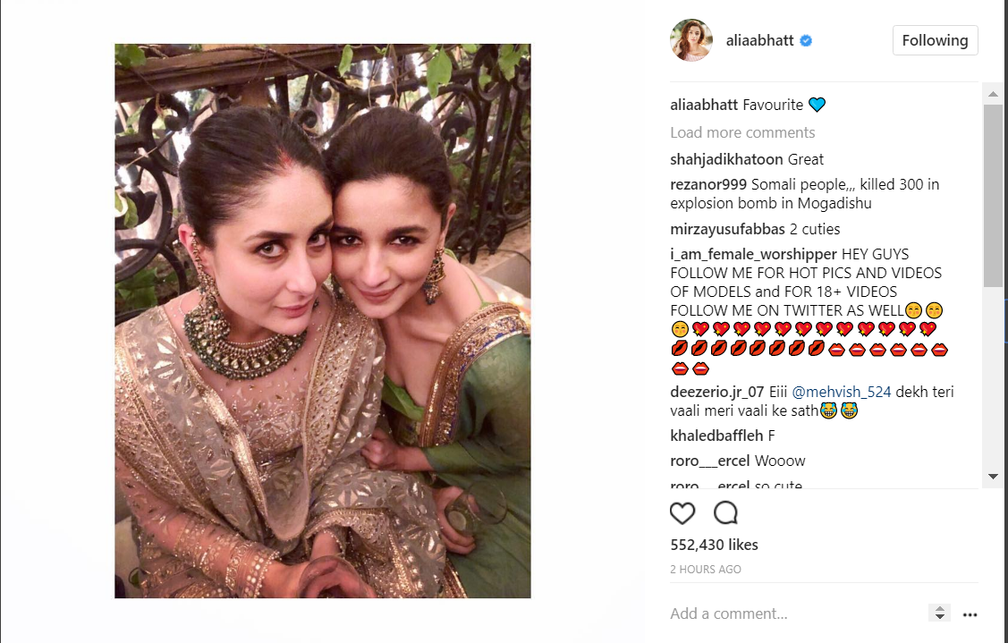 Kareena Kapoor and Alia Bhatt