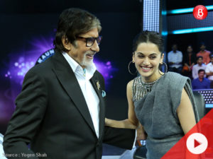 Taapsee reunites with 'Pink' co-star Amitabh Bachchan, on 'Kaun Banega Crorepati 9'