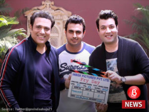 Govinda, Abhishek Dogra and Varun Sharma on sets of 'FryDay'