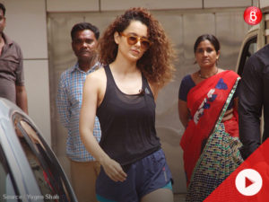 WATCH: Kangana Ranaut steps out in hot pants