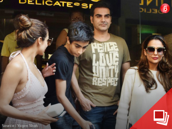PICS: Former couple Malaika Arora and Arbaaz Khan step out with son Arhaan
