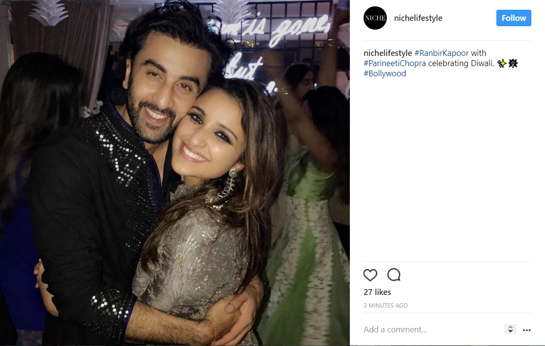 Ranbir Kapoor and Parineeti Chopra