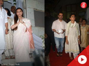 WATCH: Bollywood celebrities at the prayer meet of Rani Mukerji's father