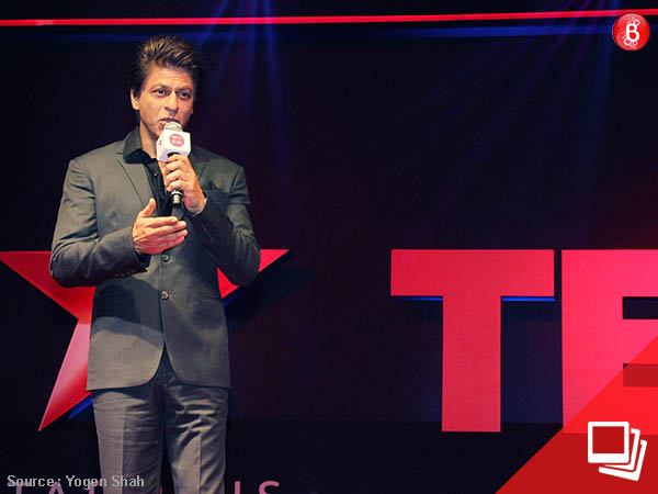 SRK makes a besuited presence at the 'TED Talks: Nayi Soch' launch event