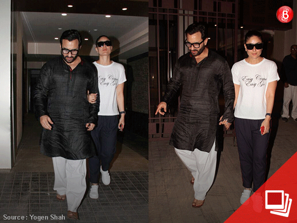 It's a low-key dinner outing for Saif and Kareena on their wedding anniversary
