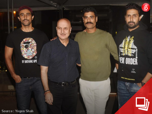 PICS: Abhishek Bachchan, Anil Kapoor and others attend Sikander Kher's birthday party