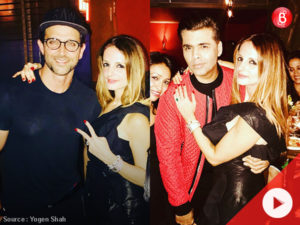 WATCH: Sussanne celebrates her 39th birthday with Hrithik, Twinkle, and Karan