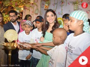 Watch: Tamannaah Bhatia attends fundraiser event for cancer-stricken kids