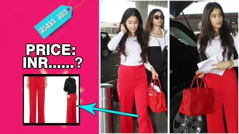 #PriceTag - The cost of Jhanvi Kapoor's track pants can fund your next GOA trip!