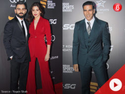 Akshay Kumar, Virat Kohli and Anushka Sharma at Indian Sports Honours 2017