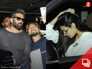 Athiya and Sunil Shetty