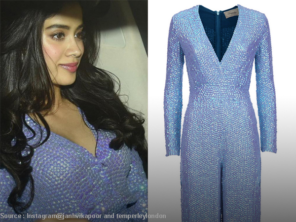 Jhanvi's blue outfit costs lakhs, but here's an inexpensive version to steal!