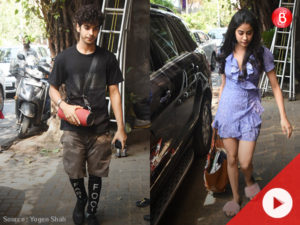 Watch: Ishaan Khattar and Jhanvi Kapoor snapped post lunch date in Bandra