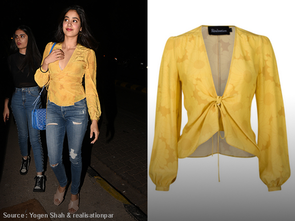 Loved Jhanvi's mustard yellow top? Here's a way to buy it!