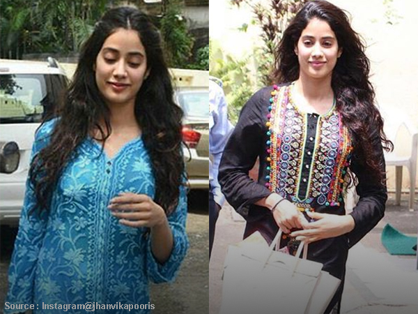 Jhanvi Kapoor looks better in her de-glam desi clothes. Here's proof!