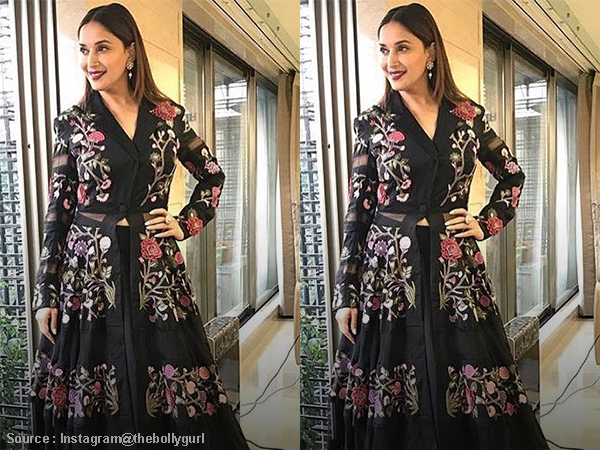 'Dhak Dhak' girl Madhuri Dixit finally ditches sarees and wows us with this outfit