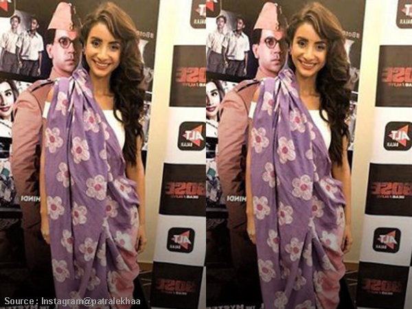 Saree or lehenga? Patralekha's unusually draped outfit will leave you confused