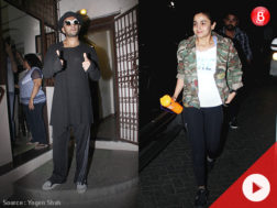 Ranveer Singh and Alia Bhatt at Shankar Mahadevan's studio