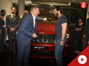 Watch: Saif Ali Khan spotted with his new jeep grand cherokee SRT